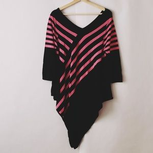 NY Collection Tops - Ny Collection black and pink top in size L